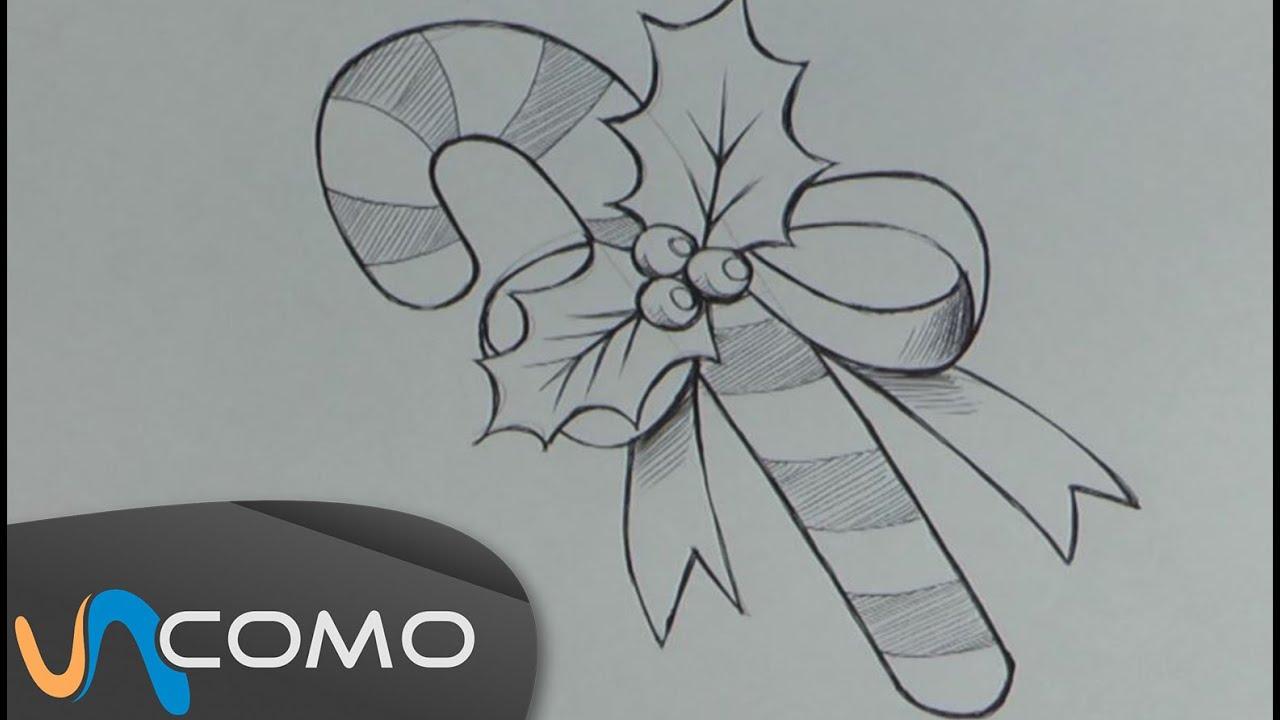 Dibujar un bast n de navidad youtube for Dibujos sencillos de navidad