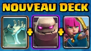 Clash Royale - ON TEST LE NOUVEAU DECK GOLEM D' ASHTAX !!