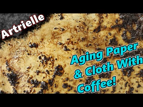 DIY Aging Paper & Cloth with Coffee | Artrielle