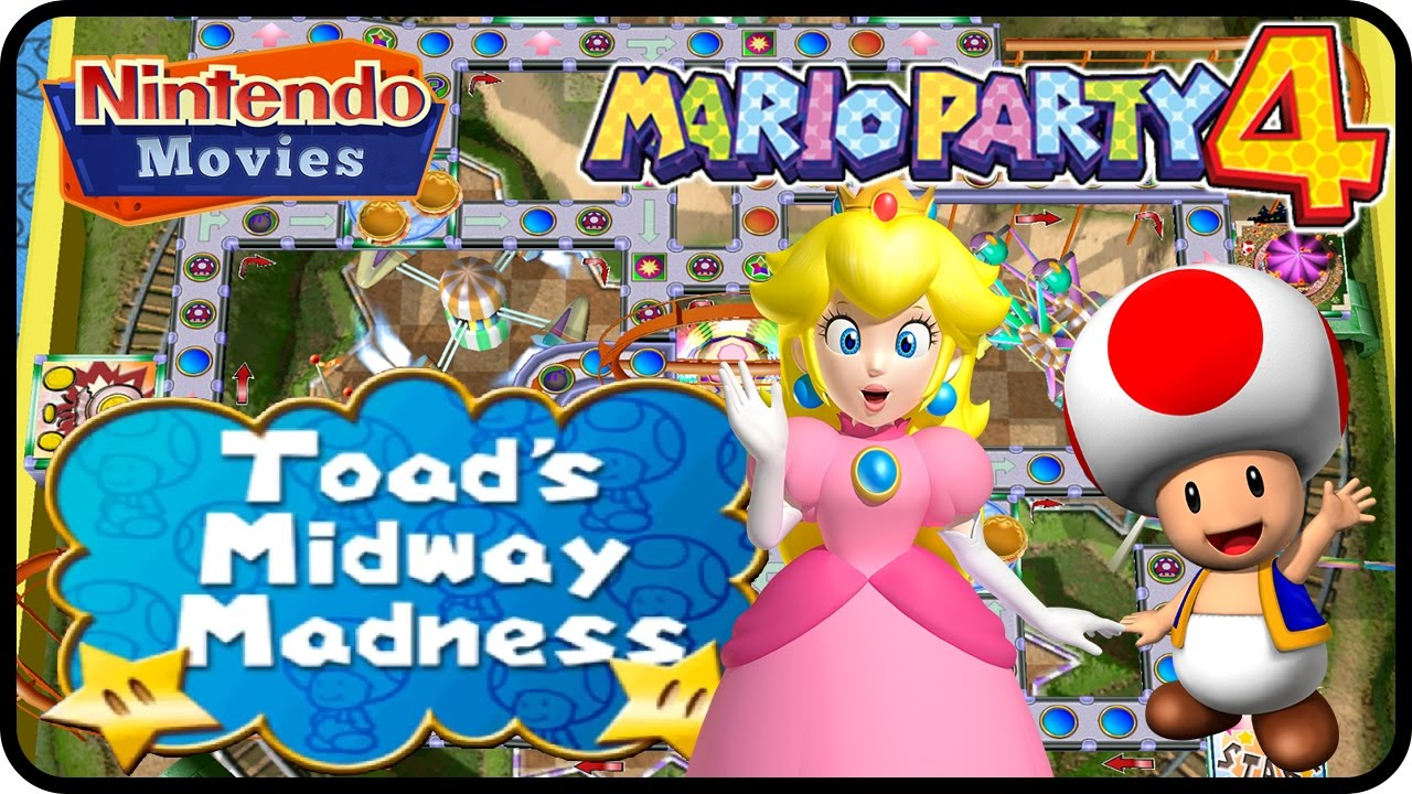 Mario Party 4 - Story Mode - Part 1 - Toad's Midway Madness