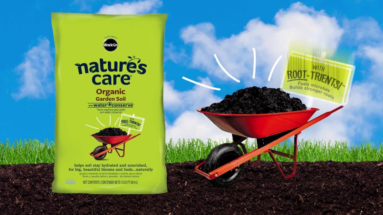 Miracle gro nature 39 s care organic garden soil with water - Nature s care organic garden soil ...