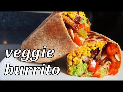 Veggie Burrito Recipe | Vegan Rice & Bean Burritos | How to Make Easy Vegan Burrito Healthy at Home