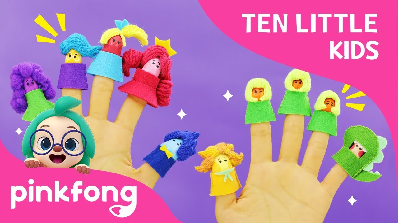 Ten Little Finger Kids | Ten Little Kids Songs | Pinkfong Songs for Children