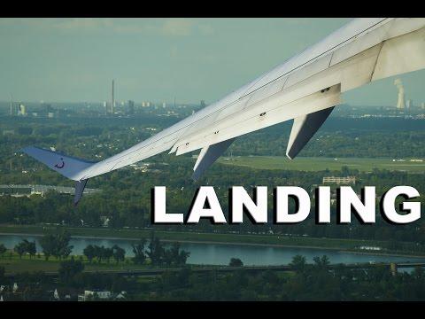 Harte Landung in Düsseldorf Flughafen mit Tuifly Boeing 737