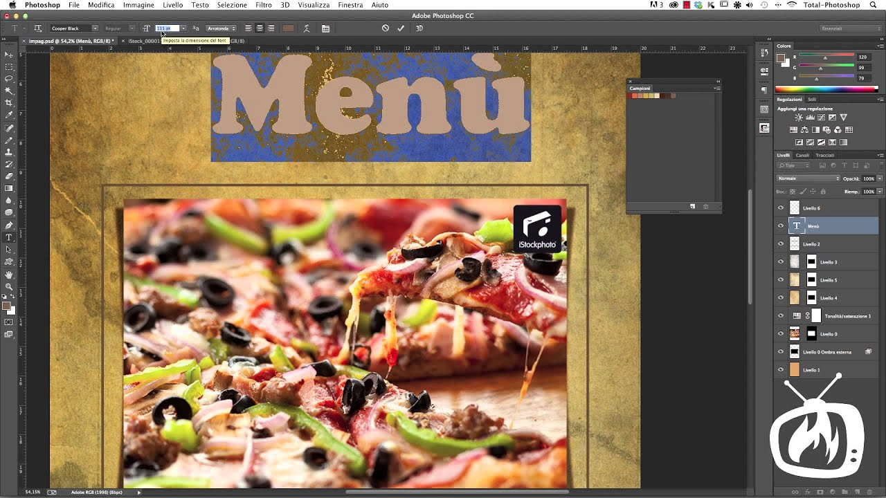 Favoloso Photoshop CS6 - Personalizzare il testo con stili e colore - YouTube XV94