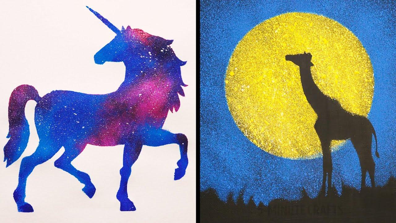 25 Easy Yet Impressive Painting Tricks Youtube