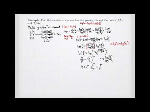 Equations from Semi-Log and Log-Log Plots