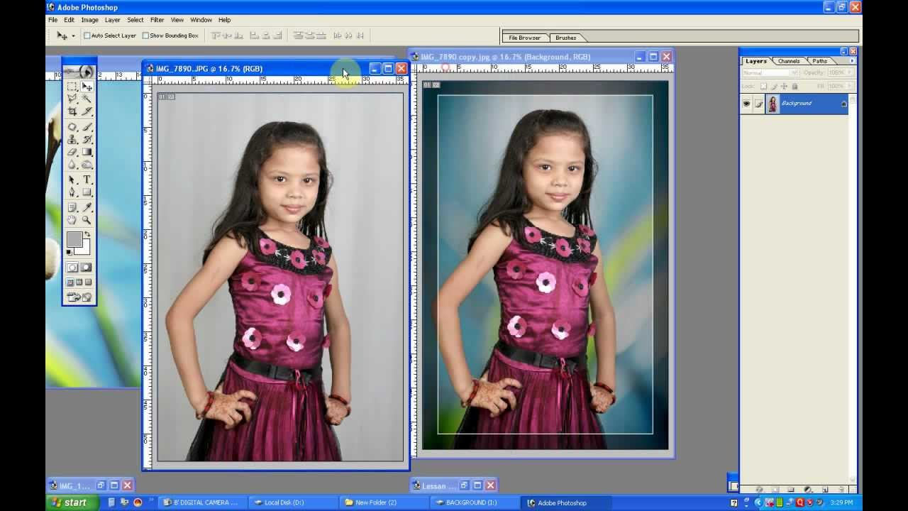 Change white background on Photoshop 7 0   YouTube
