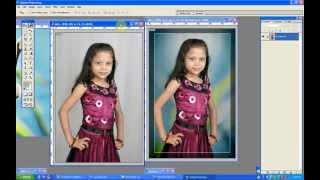 Change white background on Photoshop 7.0