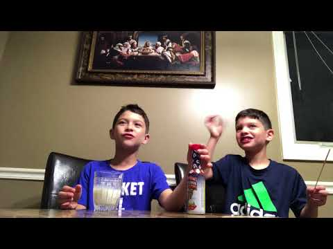 9 & 7 year old trying ass kickin Carolina reaper sauce