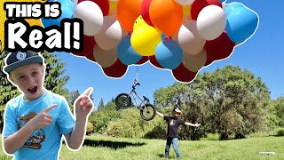 Riding a Floating Balloon Bike! *THIS IS REAL!*