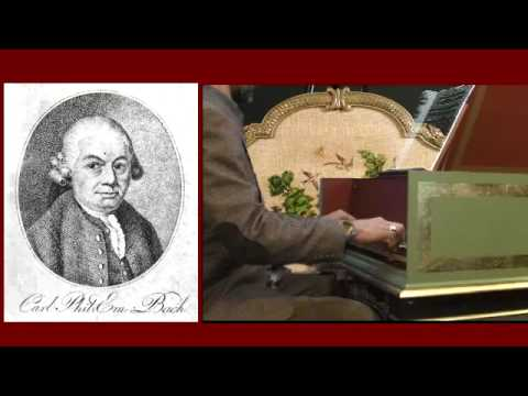 C.P.E. Bach Sonata E-Flat Major for harpsichord (probably the first recording on harpsichord)