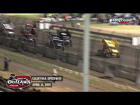 Highlights: World of Outlaws Sprint Cars Calistoga Speedway April 11th, 2015