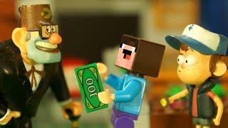 ГРАВИТИ ФОЛЗ и Лего НУБик в Майнкрафте - Minecraft Мультфильмы FNAF ФНАФ - LEGO Animation и Мультики