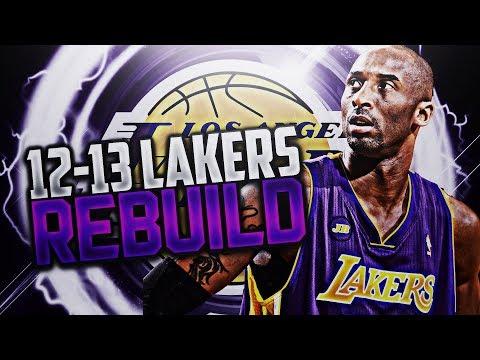 6 RINGS FOR KOBE!? '12-'13 LAKERS REBUILD!! NBA 2K18