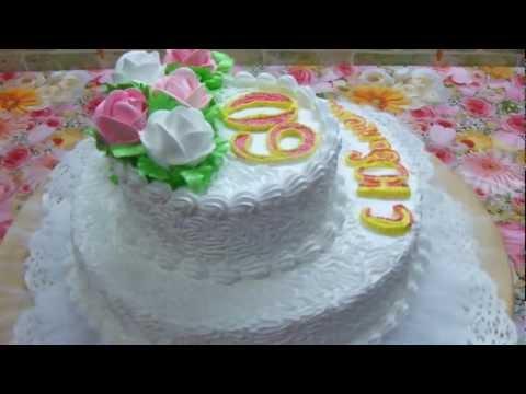 торт   медовий для жінки на 60 ювілей