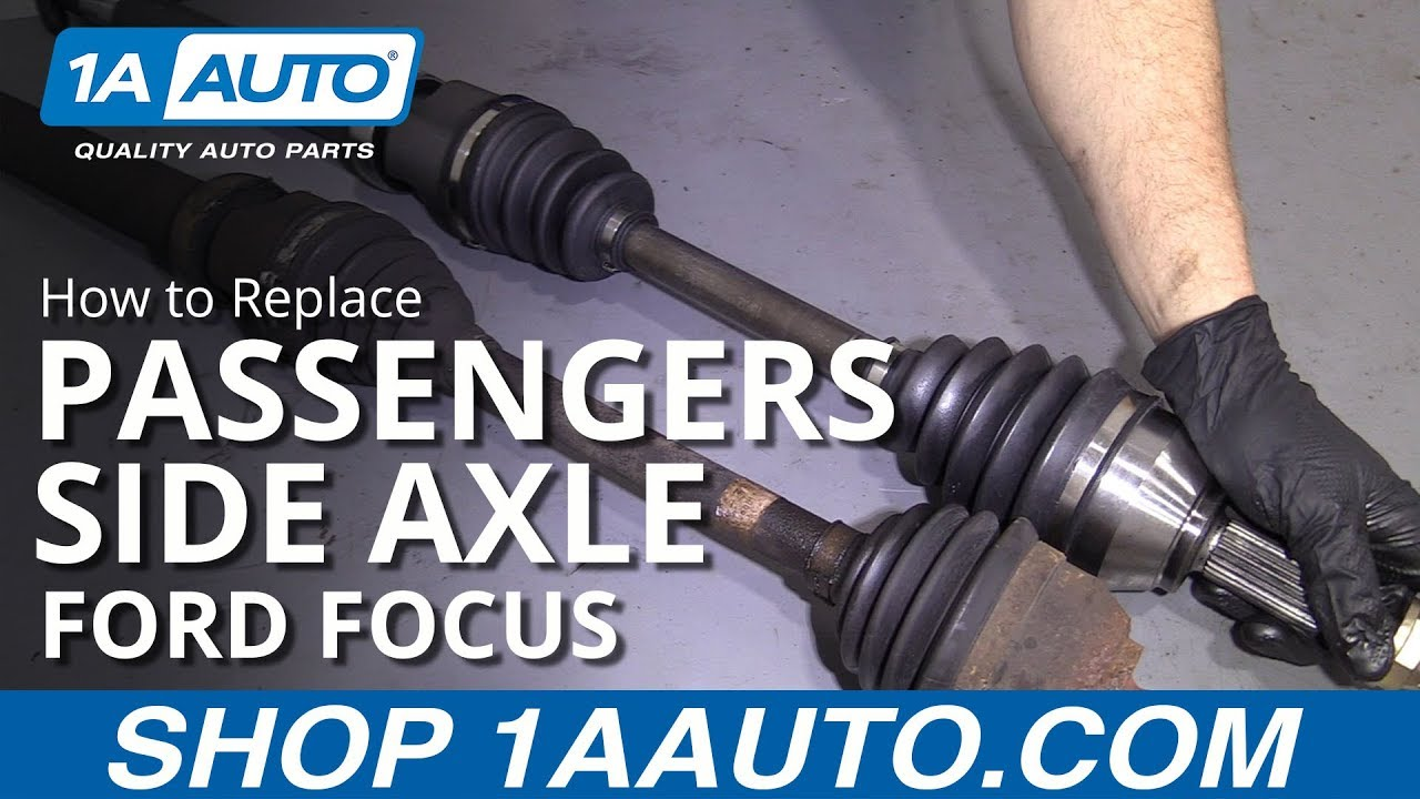 How To Replace Passengers Side Axle 00 11 Ford Focus Youtube