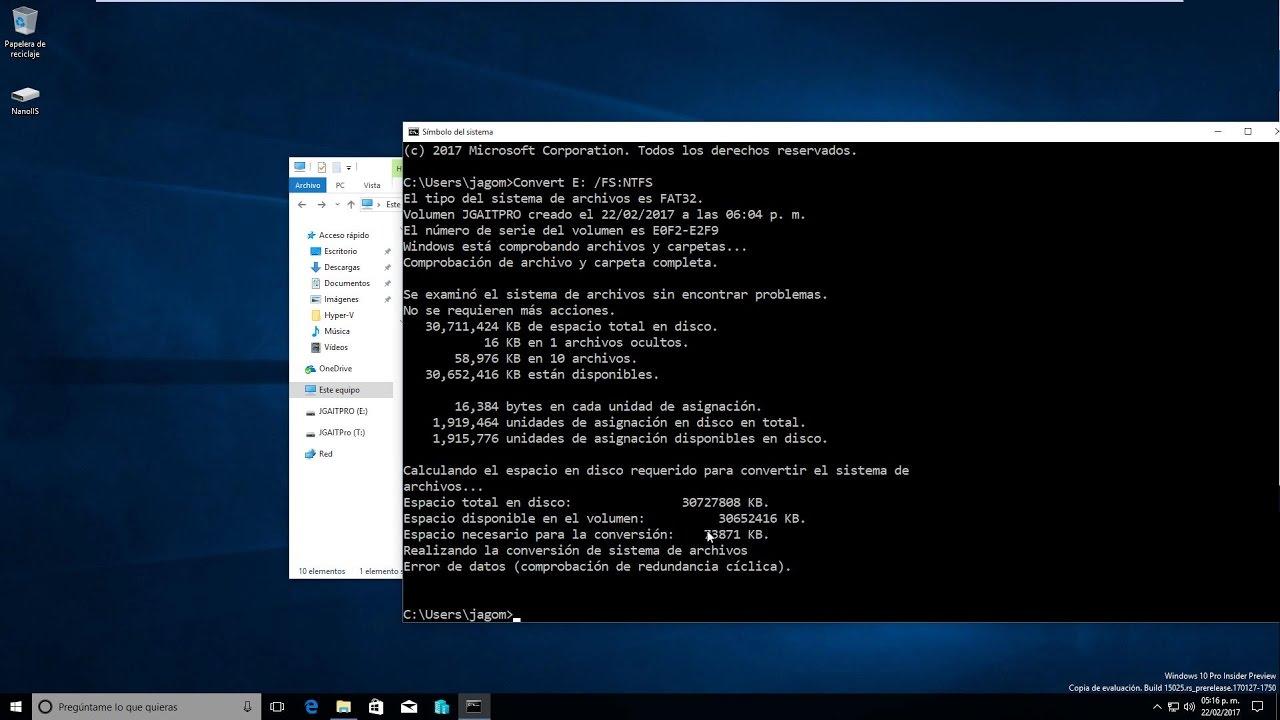 Convertir USB de FAT32 a NTFS sin formatear y perder los
