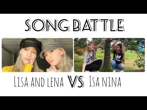Musical.ly Song Battle Compilation   Lisa and Lena VS Isa Nina   Part 2