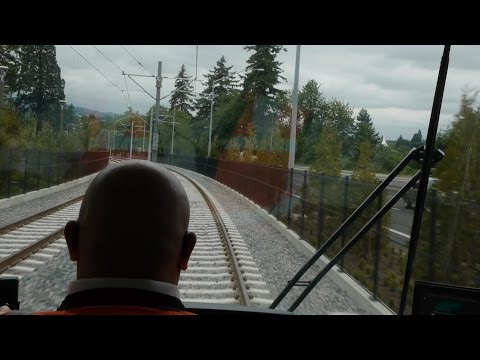 "TriMet Orange Line ""First Ride"" - A view from the cab"