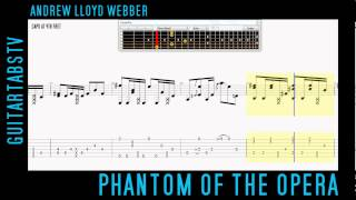 Phantom Of The Opera - Andrew Lloyd Webber Acoustic Guitar Video Tab