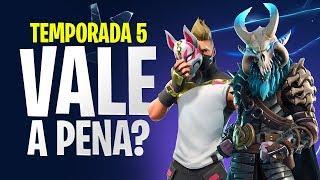 PASSE DE BATALHA DA TEMPORADA 5 VALE A PENA? | Dicas Fortnite Battle Royale - Temporada 5