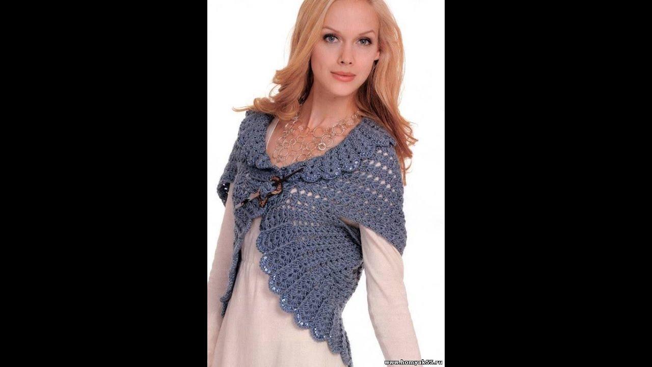 вязаное болеро крючком 2018 Knitting Bolero Crochet Stricken
