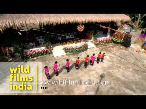 Bru cultural troupe performs at Anthurium festival, Mizoram
