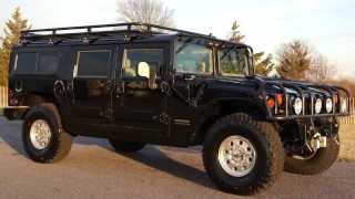 2000 Hummer H1 Wagon For Sale~Immaculate~Black~Low Miles~Rack~Push Bar~LOADED!