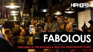 "Fabolous Performs ""We Good"" & ""Ball Drop"" at The Mitchell & Ness 5 Year Anniversary Party"