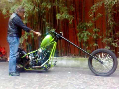chopper kickstart shovel 39 73 youtube. Black Bedroom Furniture Sets. Home Design Ideas