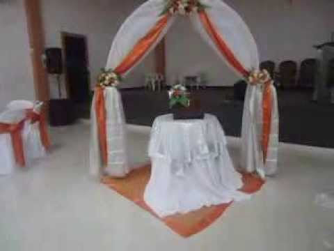 Decoraci n para matrimonio casa de eventos joan youtube - Adornos para casa ...