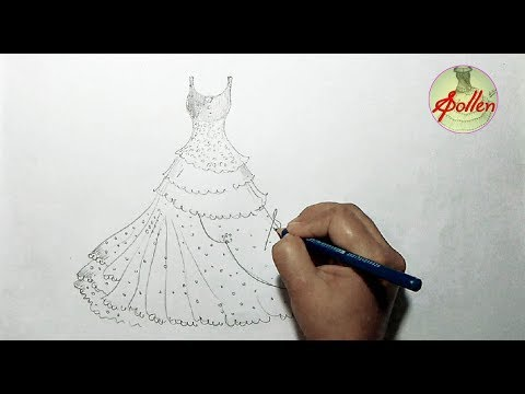 Dress Design Drawing Easy 2018 S Pollen