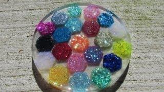 Hexagon Glitter Coaster Craft Tutorial   Another Coaster Friday