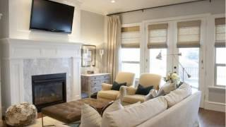 Living Room with Fireplace and TV Ideas