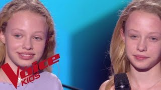 A Great big World Ft. Christina Aguilera - Say Something Abby & Sarah The Voice Kids Blind Audition