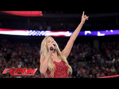 """Lilian Garcia kicks off Raw with ""The Star-Spangled Banner"": Raw, July 4, 2016"""