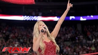 "Lilian Garcia kicks off Raw with ""The Star-Spangled Banner"": Raw, July 4, 2016"