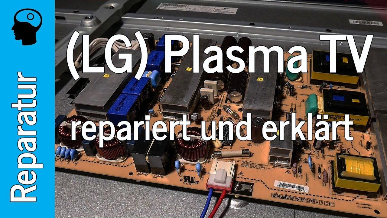 Plasma Tv Reparatur Schaltet Sofort Wieder Aus Lg 60pk950 Youtube