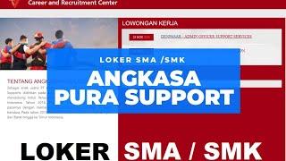 Lowongan Kerja Angkasa Pura Support Loker Sma Smk Terbaru Denpasar Dan Balikpapan Youtube