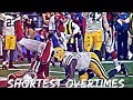 NFL Shortest Overtimes