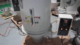 видео Бункер-сушилка для термопластавтоматов, сушка пластмасс, полимеров