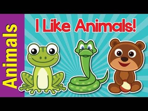 I Like Animals | Animals Song for Kids | Learn 12 Animal Names | ESL for Kids | Fun Kids English