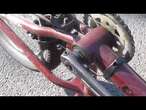 How to TIGHTEN an AMERICAN BOTTOM BRACKET on a MONGOOSE BMX BIKE with 3-PIECE CRANKS