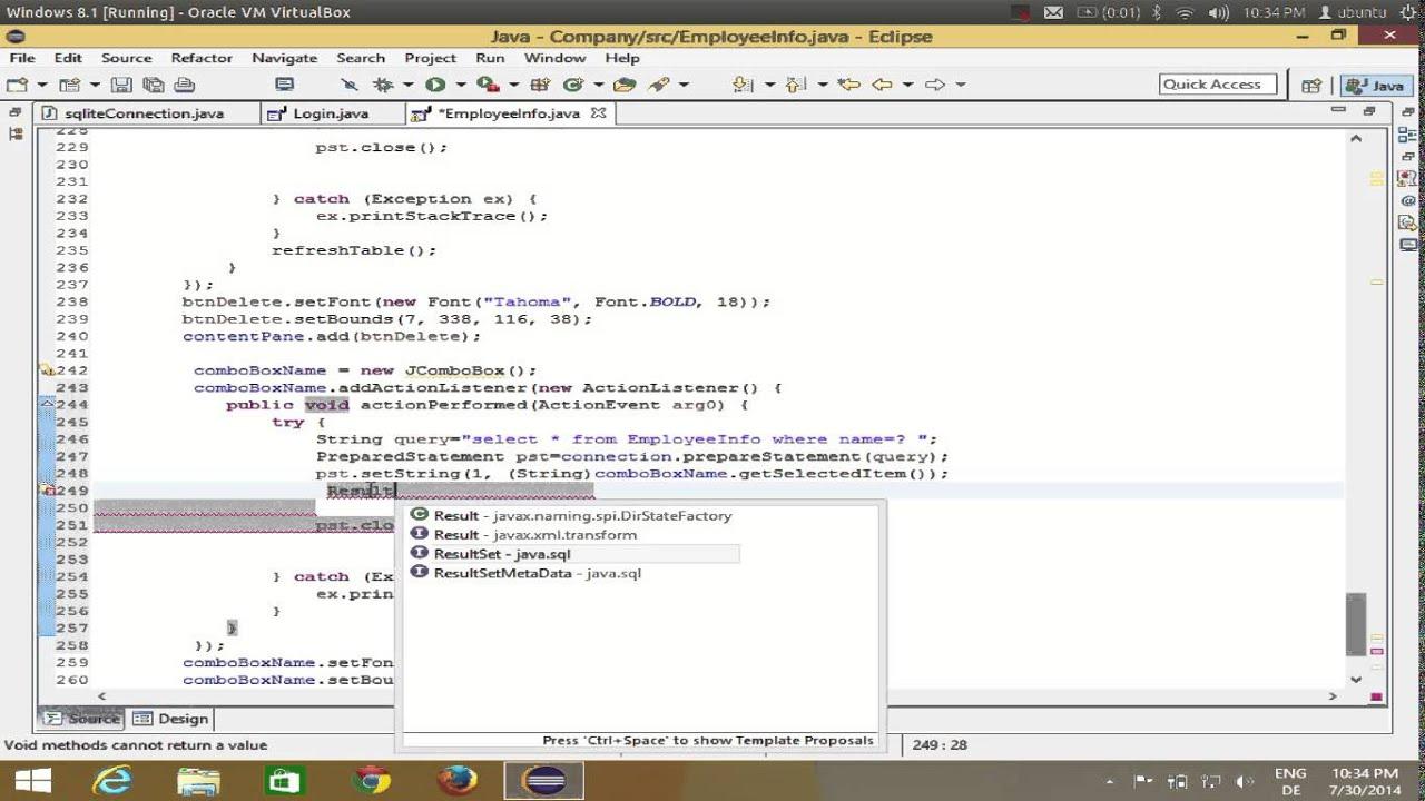 Java eclipse gui tutorial 15 show values in jtextfield if select java eclipse gui tutorial 15 show values in jtextfield if select jcombobox baditri Gallery