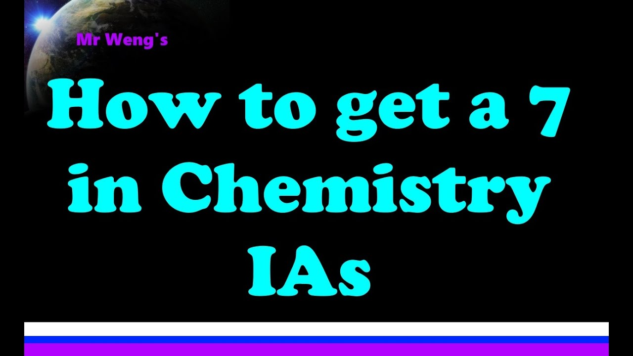 IB Chemistry IA and EE - MrWeng's IB Chemistry