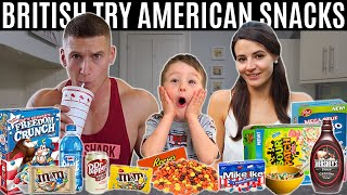 British family try American snacks & candy for the first time