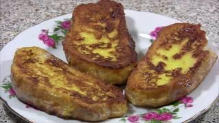 Рецепт горячих гренок из чёрствого батона