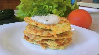 Кабачковые оладьи рецепт(кабачки рецепты) как приготовить.Squash pancakes