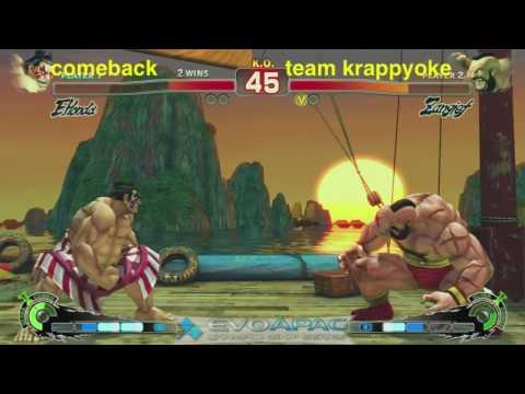 EVO APAC - comeback vs team karaoke - TEAM BATTLES - 2010.05 part 1of3